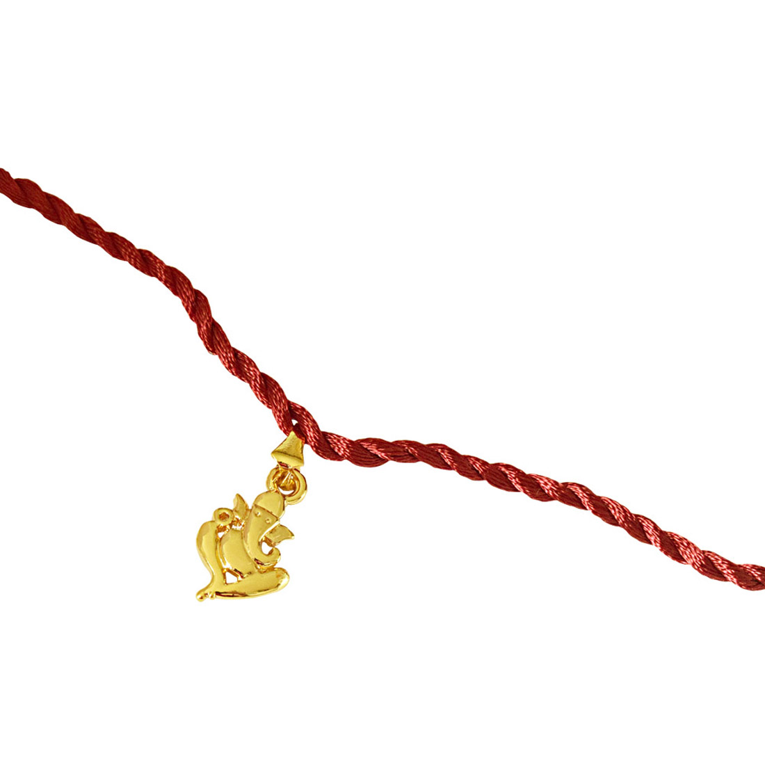 Ganesh Ganapati Religious Gold Plated Rakhi for Brothers (SNSH8)