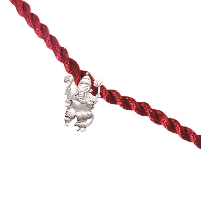 Lord Ganesha Sterling Silver Rakhi for Brothers SNSR14