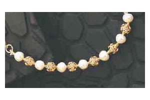 Brilliance - Gold Plated Pendant & Real Freshwater Pearl Choker Necklace for Women (SP120)