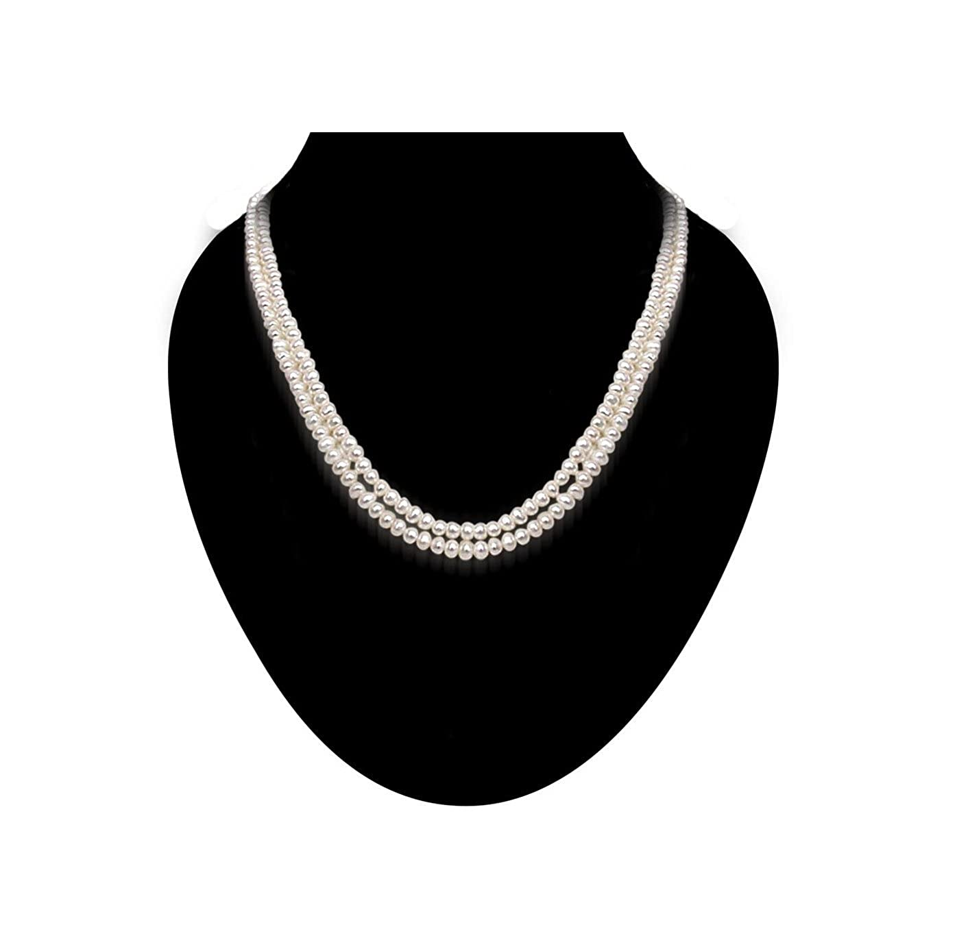 Regale - 2 Line Real Freshwater Pearl Necklace for Women (SP264)
