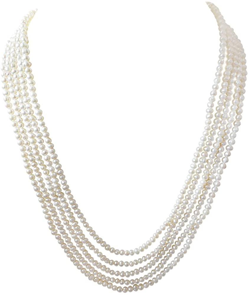 Charming Beauty - Real Freshwater Pearl Necklace, Bracelet & Earring Set for Women (SP91)