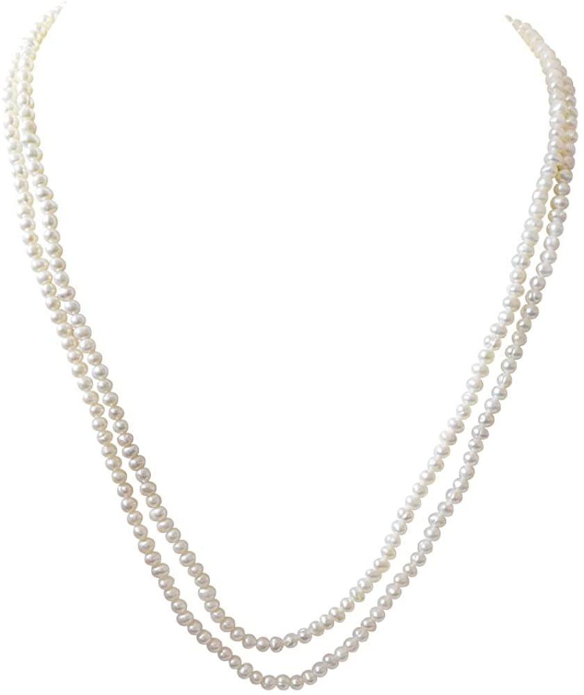 Shimmering Elegance - Real Freshwater Pearl Necklace, Bracelet & Earring Set for Women (SP94)