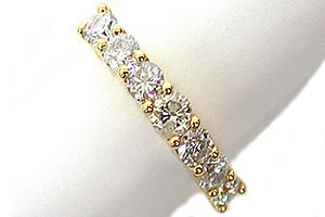 Sparkling Radiance -Yellow Gold Eternity rings