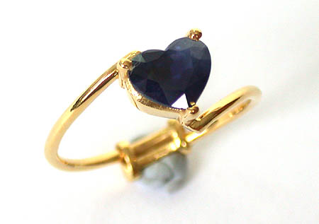 Sweet Angelic Dream - Sapphire Gold Ring