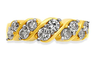 A Gem of a Girl -Yellow Gold Eternity rings