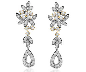 A Bride's Wish -0.68cts Diamond Earrings -Designer Earrings