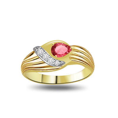 A Celebration Diamond & Ruby rings in 18kt Gold