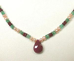 A Classy Woman SN415 -Precious Stone Necklace