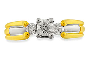 A Fairy Tale Romance -White Yellow Gold rings