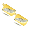 A Groom's Delight -0.40ct Diamond Gold Cufflinks -Cufflinks