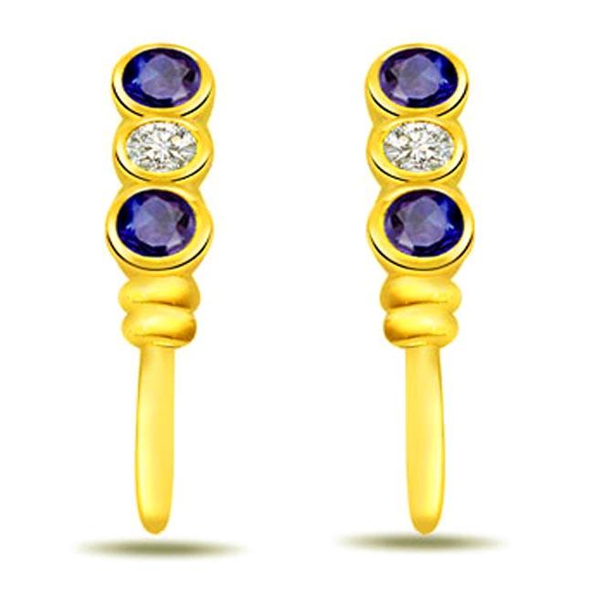 A Marvelous Hanging Diamond Earrings