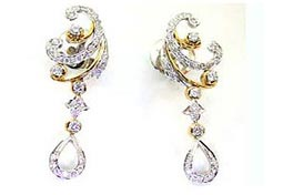 A Queen's Treasure -Trendy Diamond Earrings