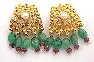 A Very Traditional Pair of Gold Platted Earrings -Designer Earrings