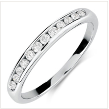 Diamond rings -abseting -2 Tone Half Eternity