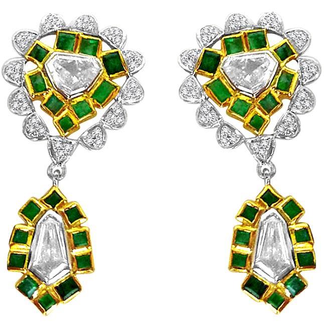 Pentagone Diamond Earrings -Designer Earrings