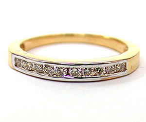 Anokha B han 0.31 ct Diamond Eternity rings -2 Tone Half Eternity