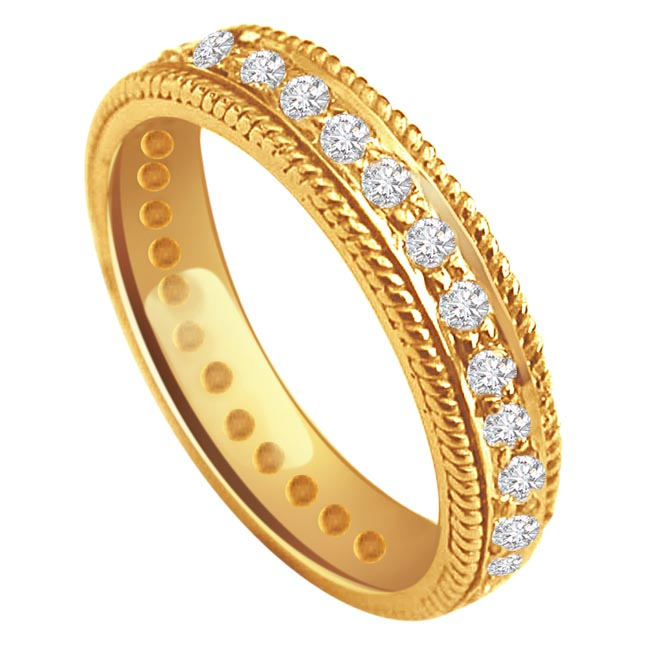 B s Of Joy -0.30 cts Anniversary Diamond B -Yellow Gold Eternity rings