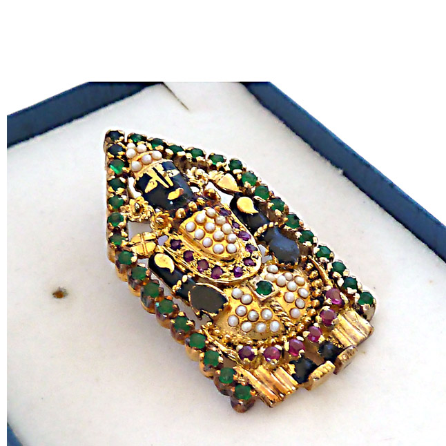 Balaji Pendants set in Gold Plated Silver. -Religious
