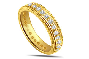 B s Of Joy -0.30 cts Anniversary Diamond B -Yellow Gold Eternity rings