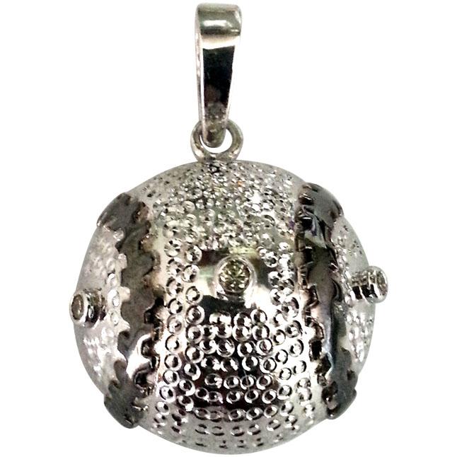 Diamond & Silver Baseball Pendants -Sport Collection