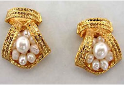 Beautiful Bejeweling Pearl Earrings -Designer Earrings