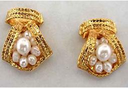 Beautiful Bejeweling Pearl Earrings -Designer Earrings