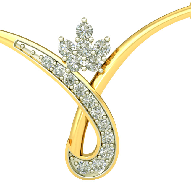 Beautiful Twist Two Tone Diamond Mangalsutra Pendants DN436 Necklaces