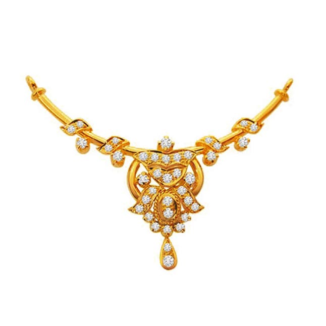 Begining of Life with a Star 0.54 cts Diamond Necklace Pendants Necklaces