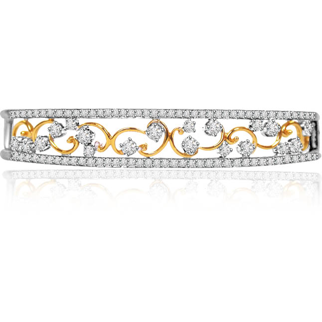Sparkling Stars Together 1 16ct Diamond Studded Bracelet Bracelets