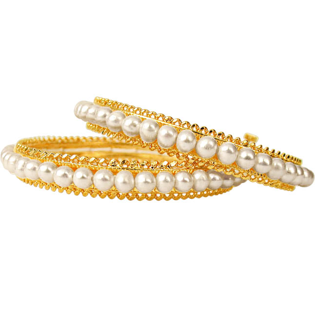Rapturous Adornment -Pearl Bangles