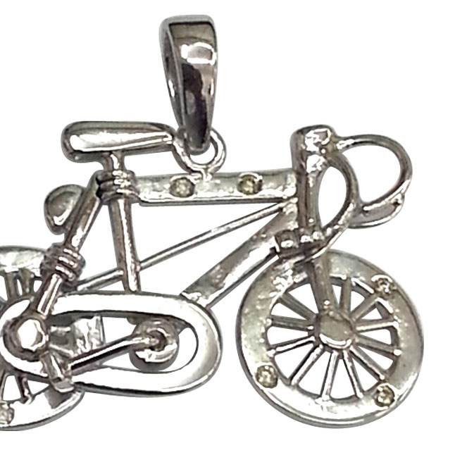 Bicycle Bling -Diamond & Silver Bicycle -Sport Collection