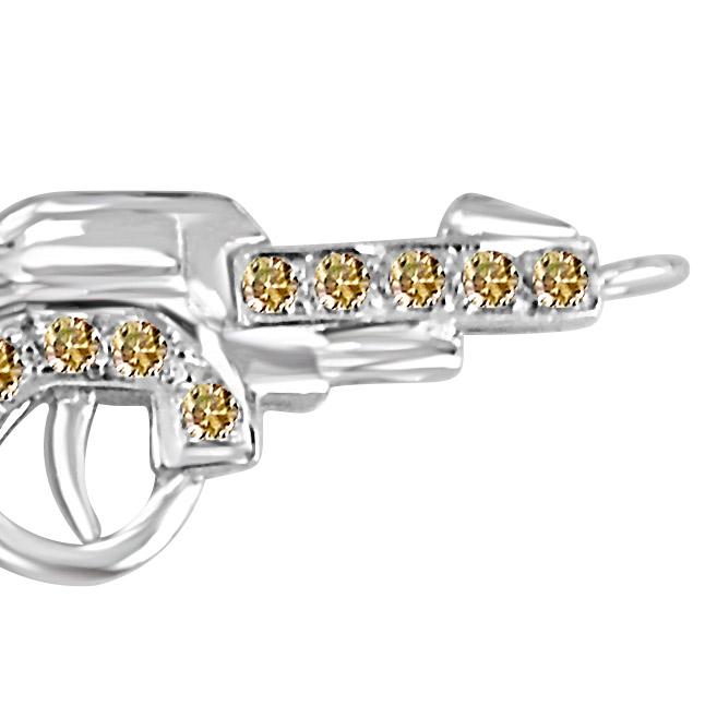 Bite the Bullet:Diamond Gun Pendants for HIM -Sport Collection