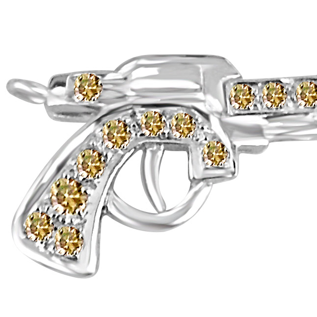 Bite the Bullet:Diamond Gun Pendants for HIM -Sport Collection