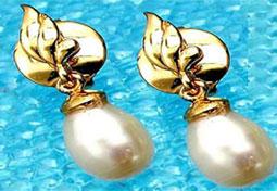 Blazing Beauty Pearl Earrings