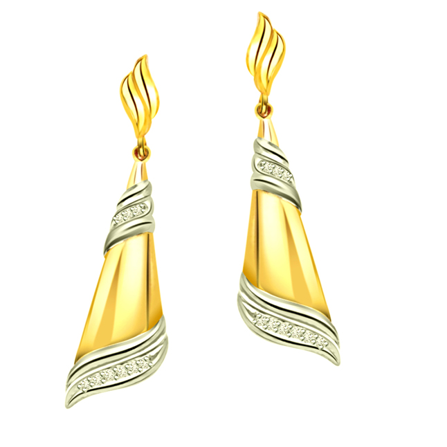 Bling -Two Tone Earrings