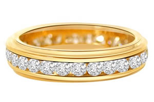Blinging Beautiful Diamond -Yellow Gold Eternity rings