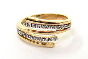 Blooming Flower Diamond 0.18 ct Eternity rings -Yellow Gold Eternity rings