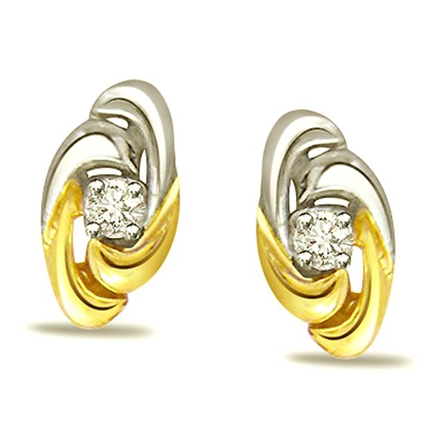 Blossom Diamond Earrings -Solitaire Earrings