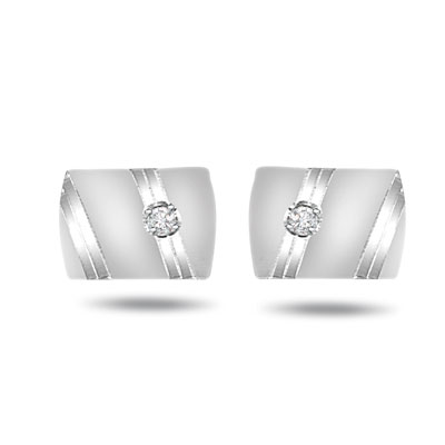 Boardroom Boss -0.10ct Diamond Cufflinks -Cufflinks