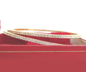 Bond of Love 6.30 ct Brilliant Diamond Bangles -Diamond Bangles