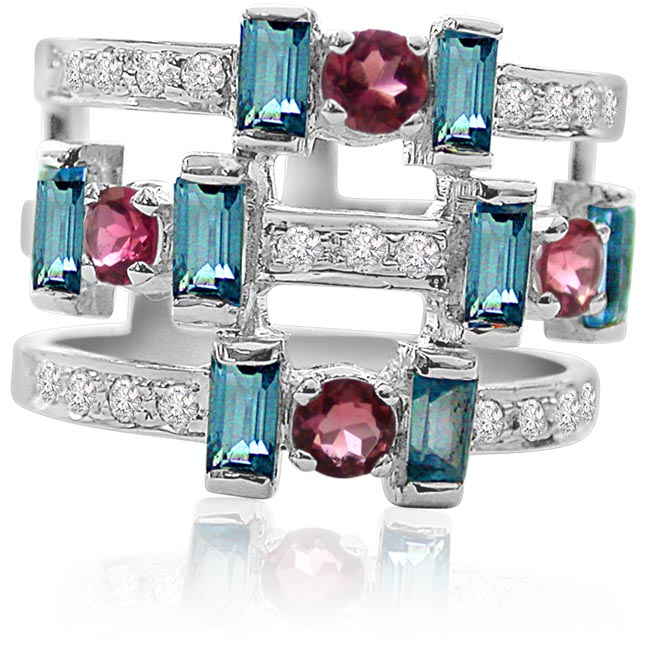 Modern Unique Trendy 0.20ct Diamond rings -Couture Collection