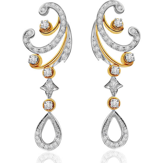 A Queen's Treasure -Trendy Diamond Earrings