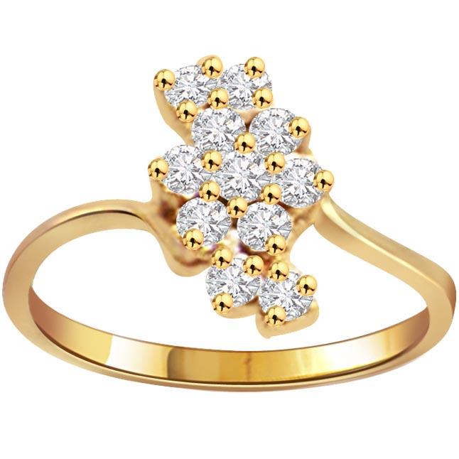 Bunch of Diamonds 0.55 ct Diamond Classic rings