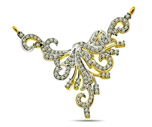 Bunch of Diamonds 1.35 cts Diamond Necklace Pendants