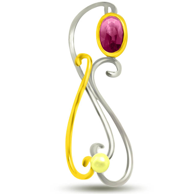 Bunch of Shine Stunning Ruby Pendants In 18kt Yellow Gold -Diamond -Ruby
