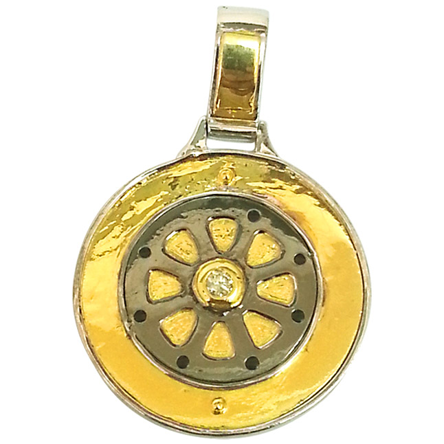 Wheel Of Fortune -Try Your Luck -Diamond & Silver Pendants -Sport Collection