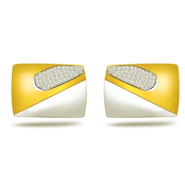 Corporate Chic -0.45ct VS Clarity Diamond Cufflinks -Cufflinks