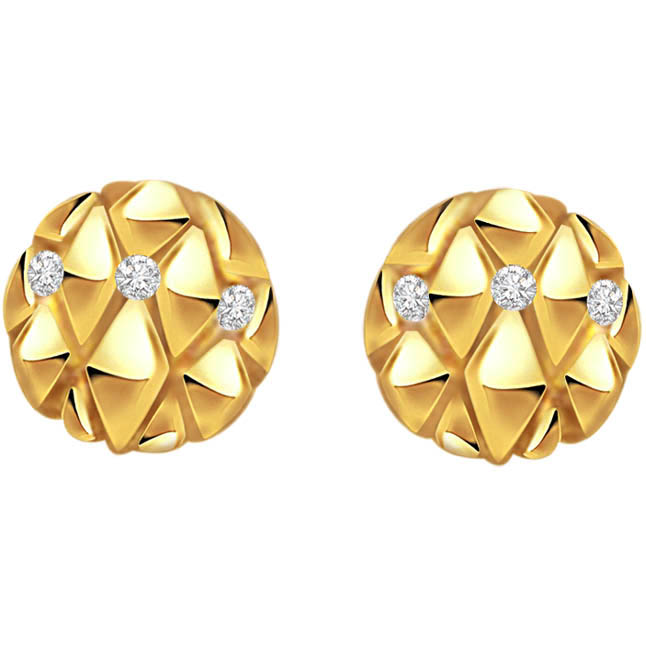 Charming Circles ER -129 -Flower Shape Earrings