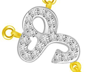 Circle Of Love Two Tone Diamond & Gold Pendants