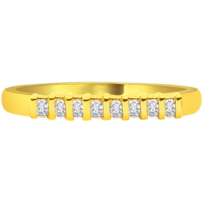 Classic 0.40 cts Diamond Half Eternity rings -Yellow Gold Eternity rings